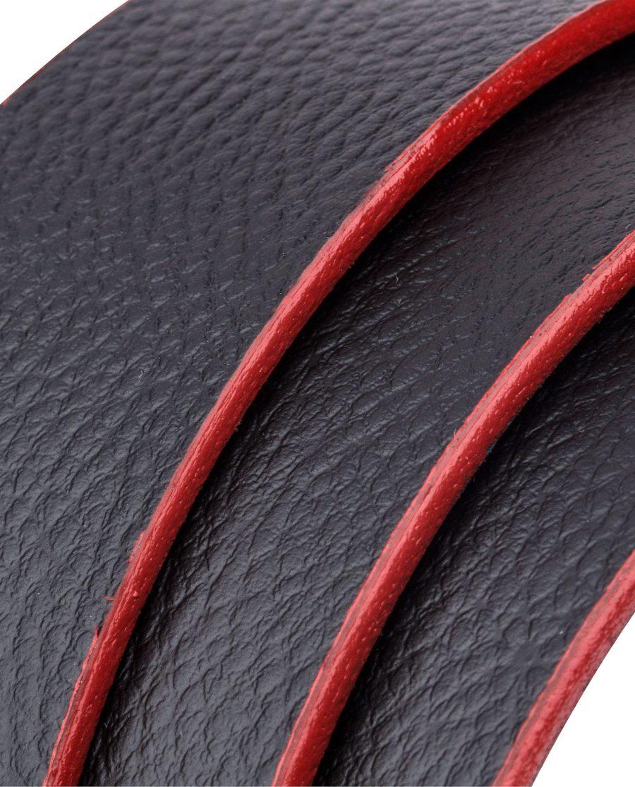 Black-Cowhide-Slide-Belt-Rolled-strap