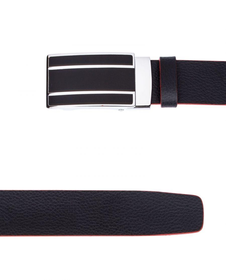 Black-Cowhide-Slide-Belt-View-from-top