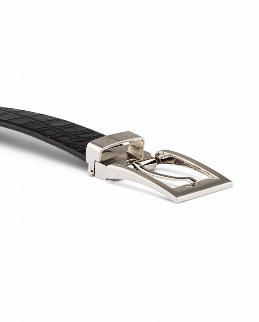 Black-Croc-Effect-Thin-Belt-Buckle-image