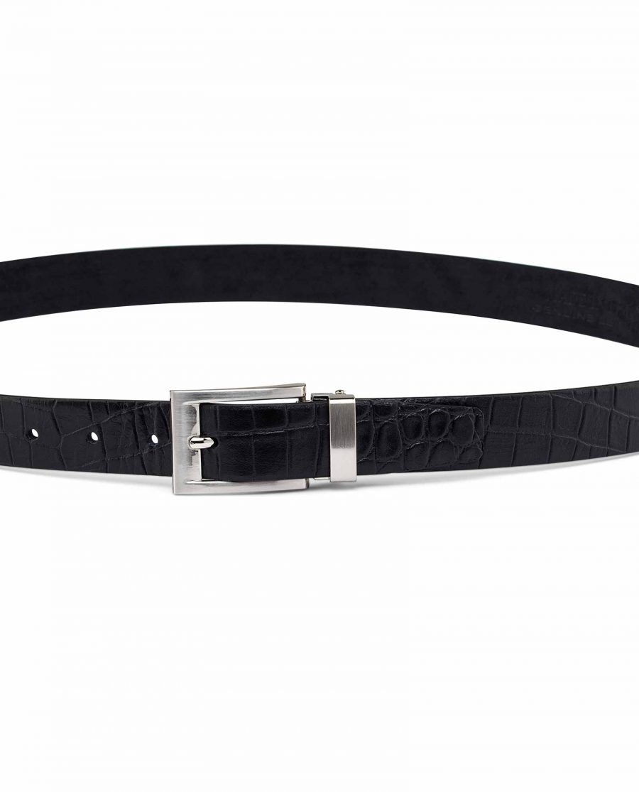 Black-Croc-Effect-Thin-Belt-On-pants