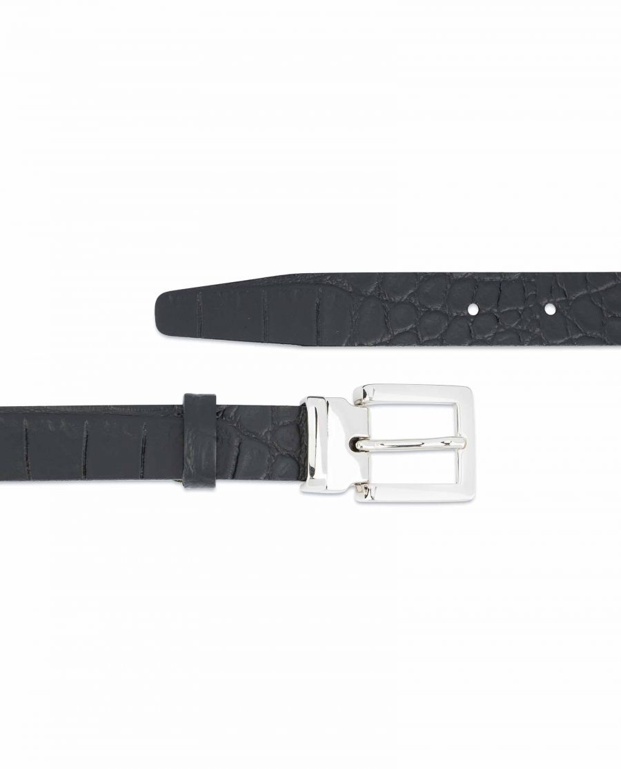 Black-Croco-Belt-1-inch-Embossed-Leather-Crocodile