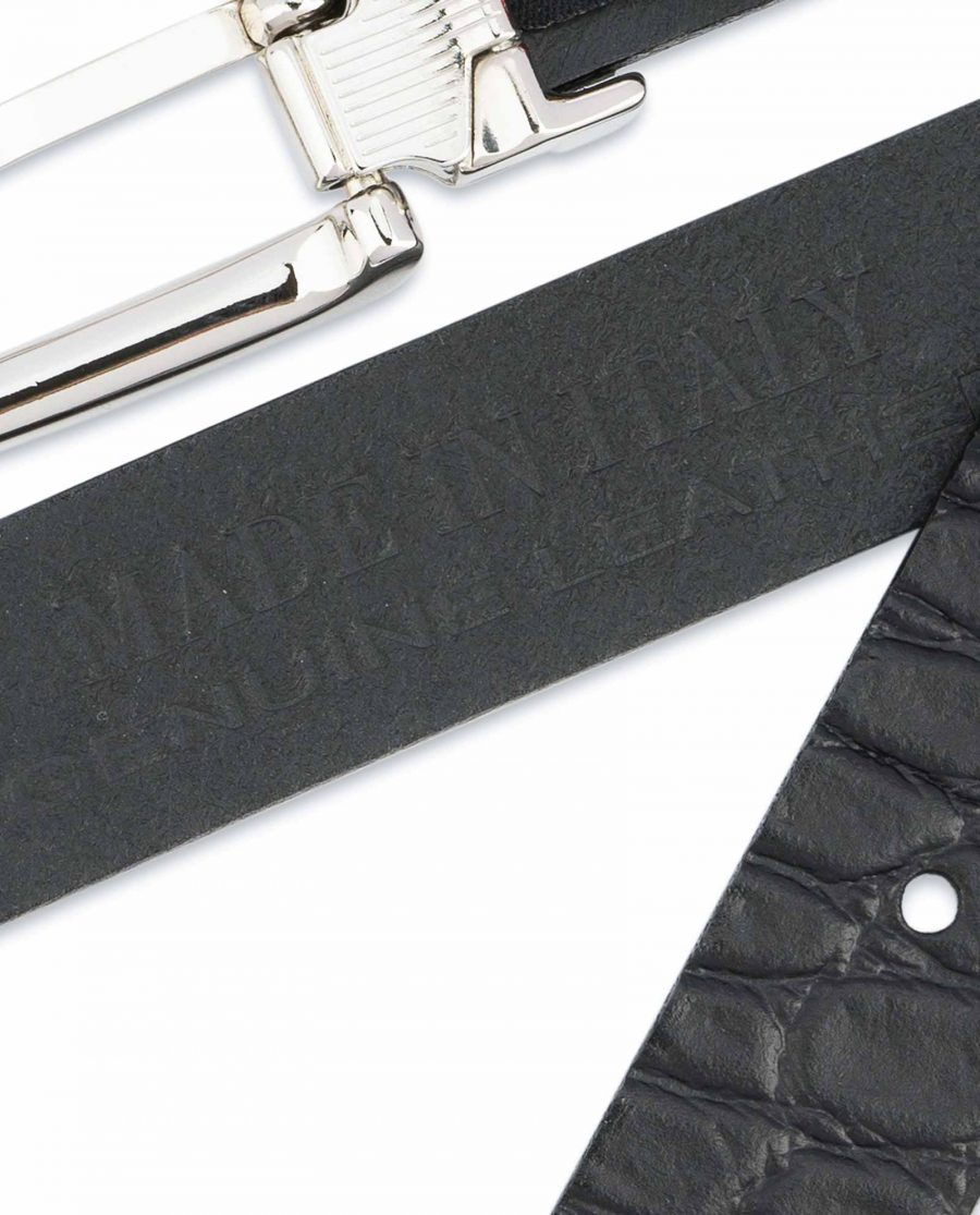 Black-Croco-Belt-1-inch-Embossed-Leather-Made-in-Italy