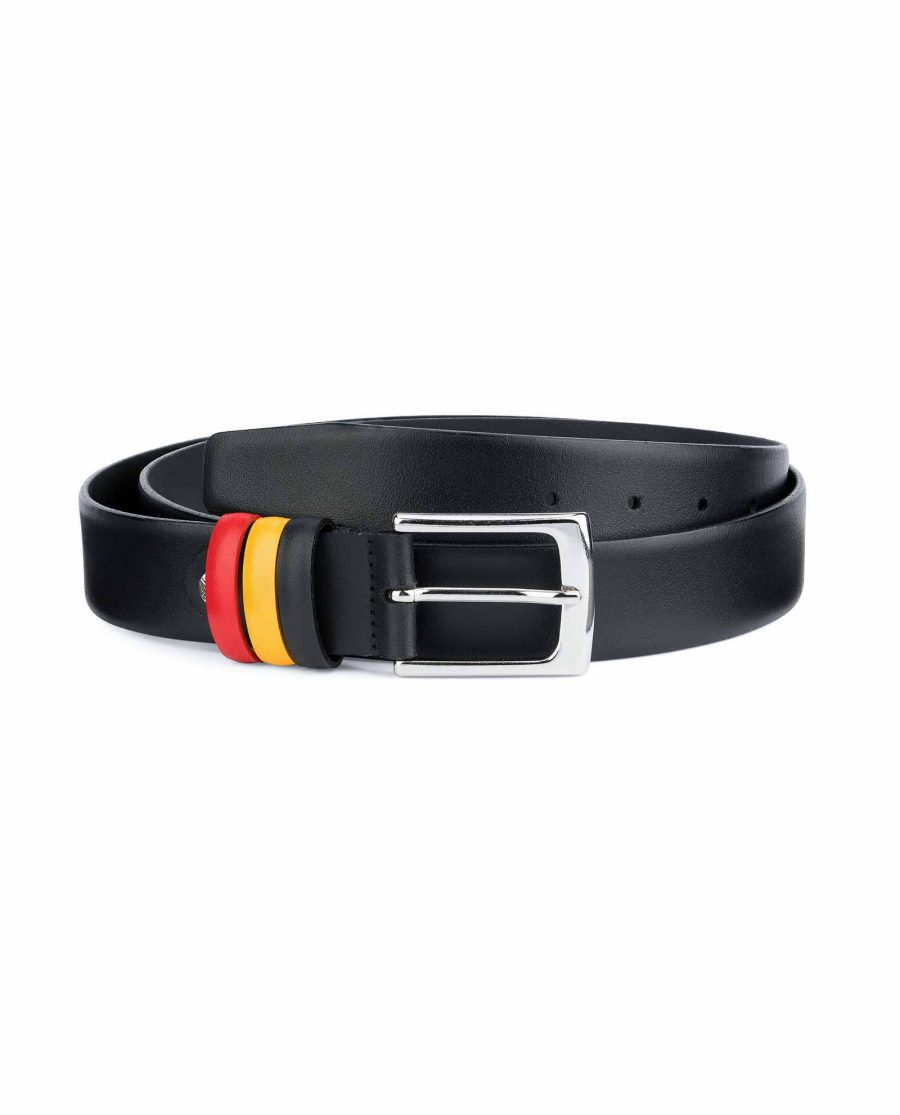 Black-Leather-Belt-with-Belgium-Flag-Colors-Capo-Pelle