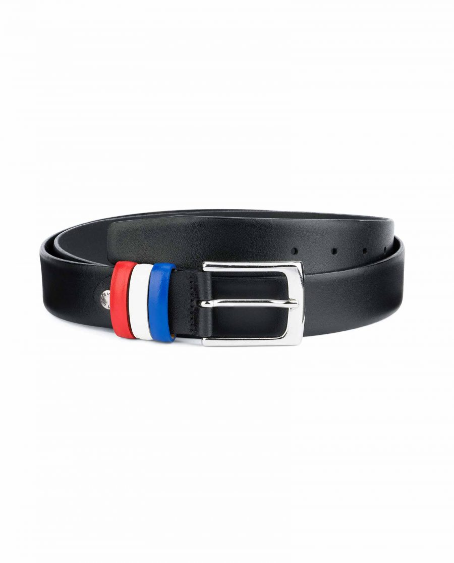Black-Leather-Belt-with-France-Flag-Colors-Capo-Pelle