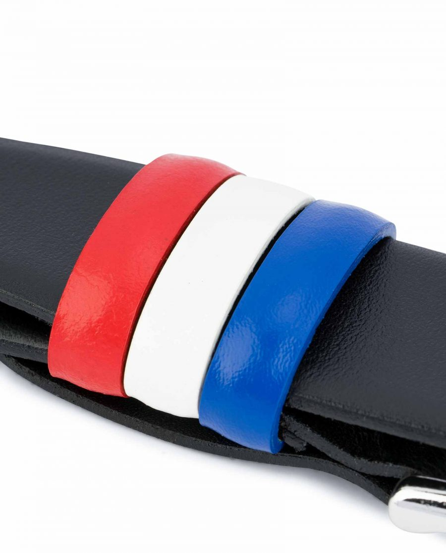 Black-Leather-Belt-with-France-Flag-Colors-French-gift