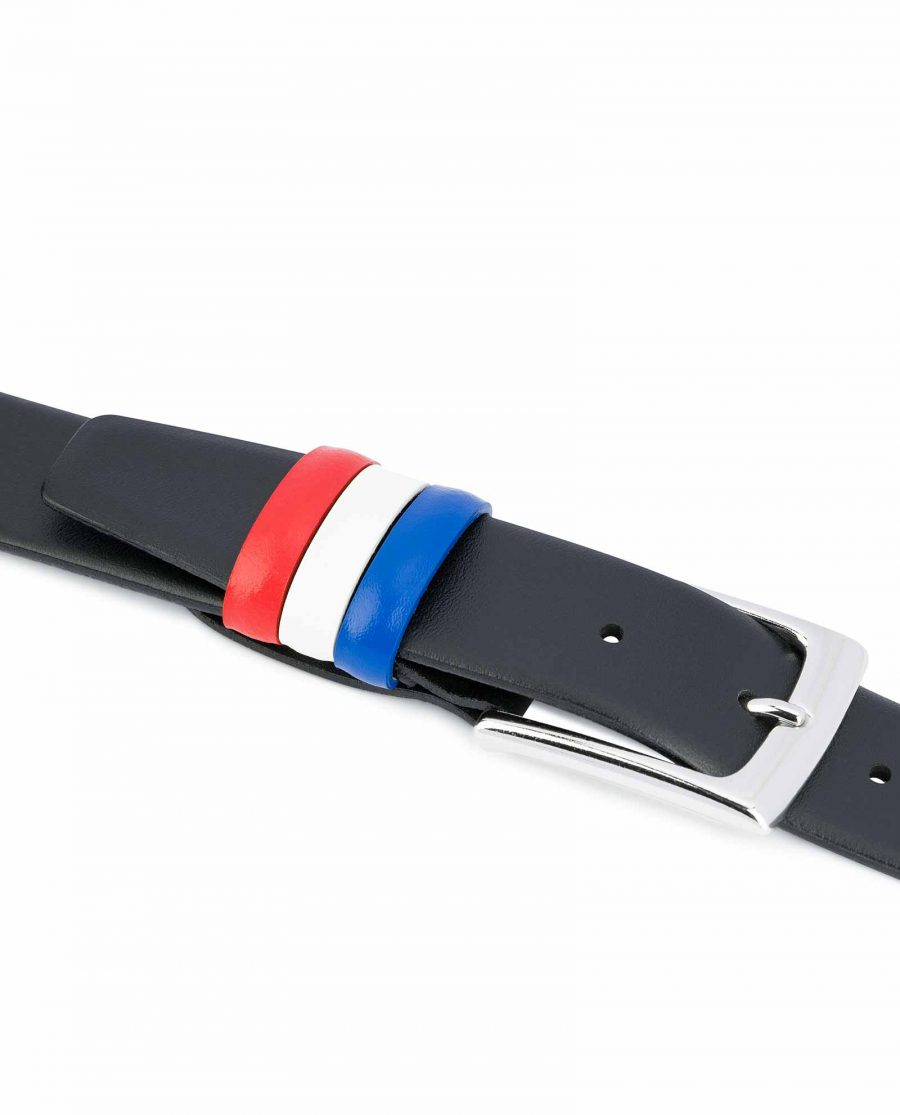 Black-Leather-Belt-with-France-Flag-Colors-Gift-idea-for-him