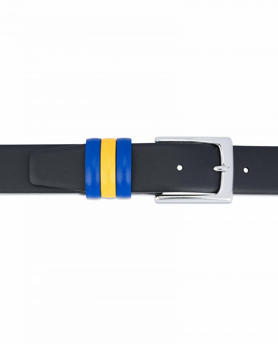 Black-Leather-Belt-with-Sweden-Flag-Colors-Blue-Yellow-loop