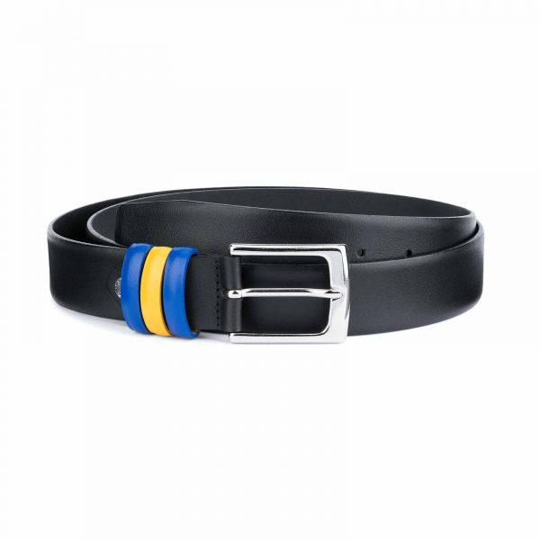 Black-Leather-Belt-with-Sweden-Flag-Colors-Capo-Pelle