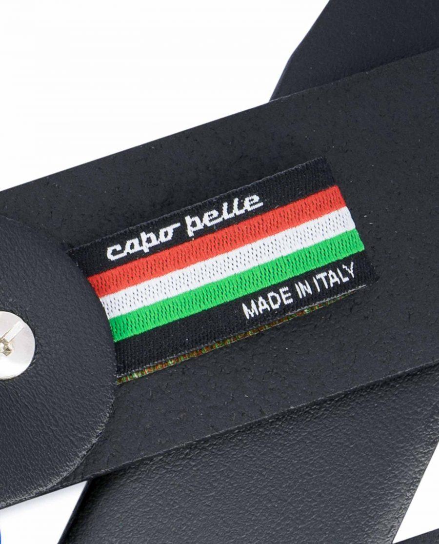 Black-Leather-Belt-with-Sweden-Flag-Colors-Woven-label