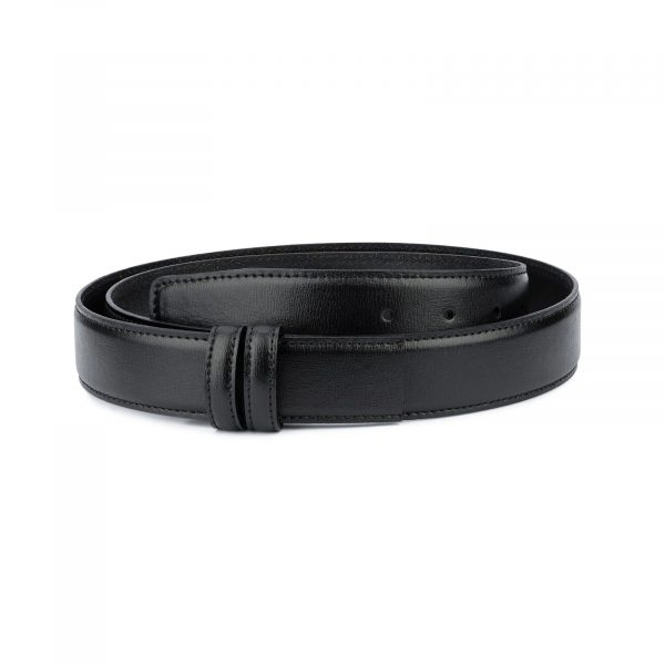 Black Mens Belt Without Buckle Replacement strap 1