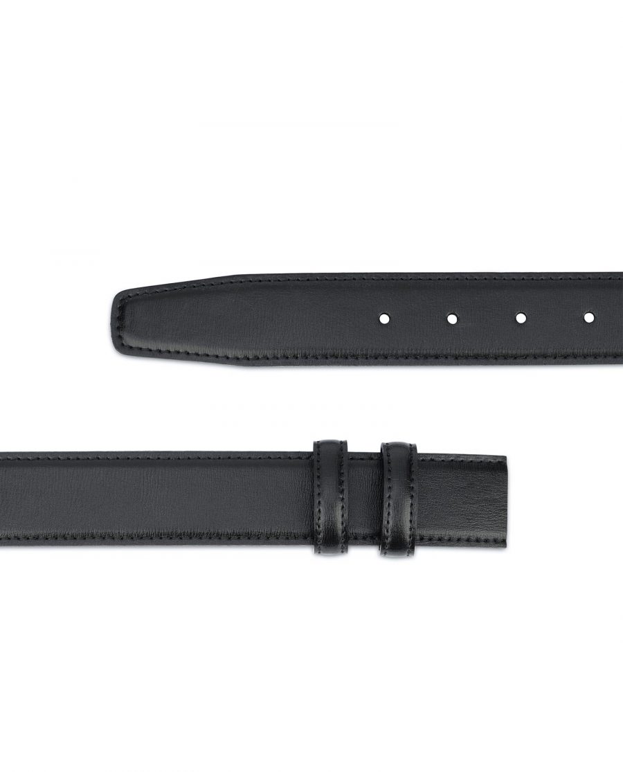 Black Mens Belt Without Buckle Replacement strap 2