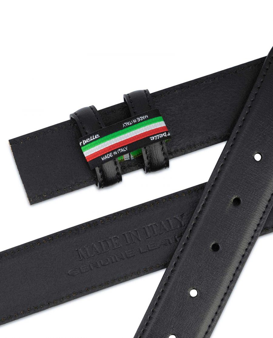Black Mens Belt Without Buckle Replacement strap 3
