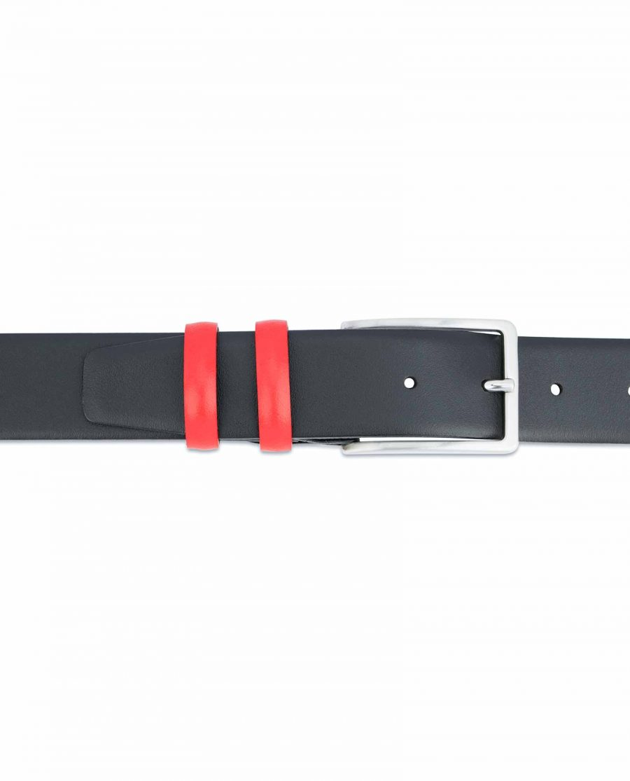 Black-Mens-Belt-with-Red-Leather-Loops-On-pants