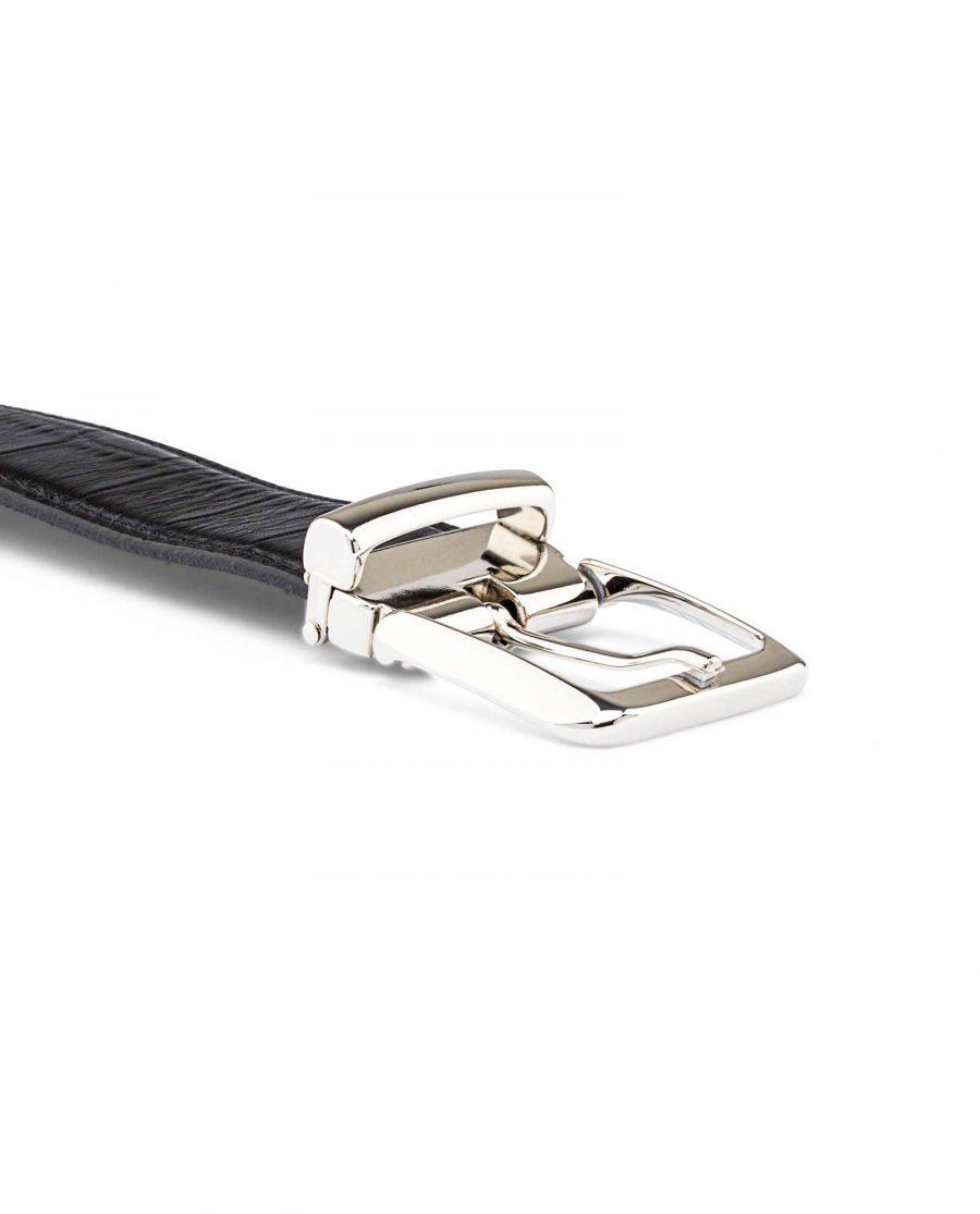 Black-Mens-Croco-Embossed-Belt-Buckle-image