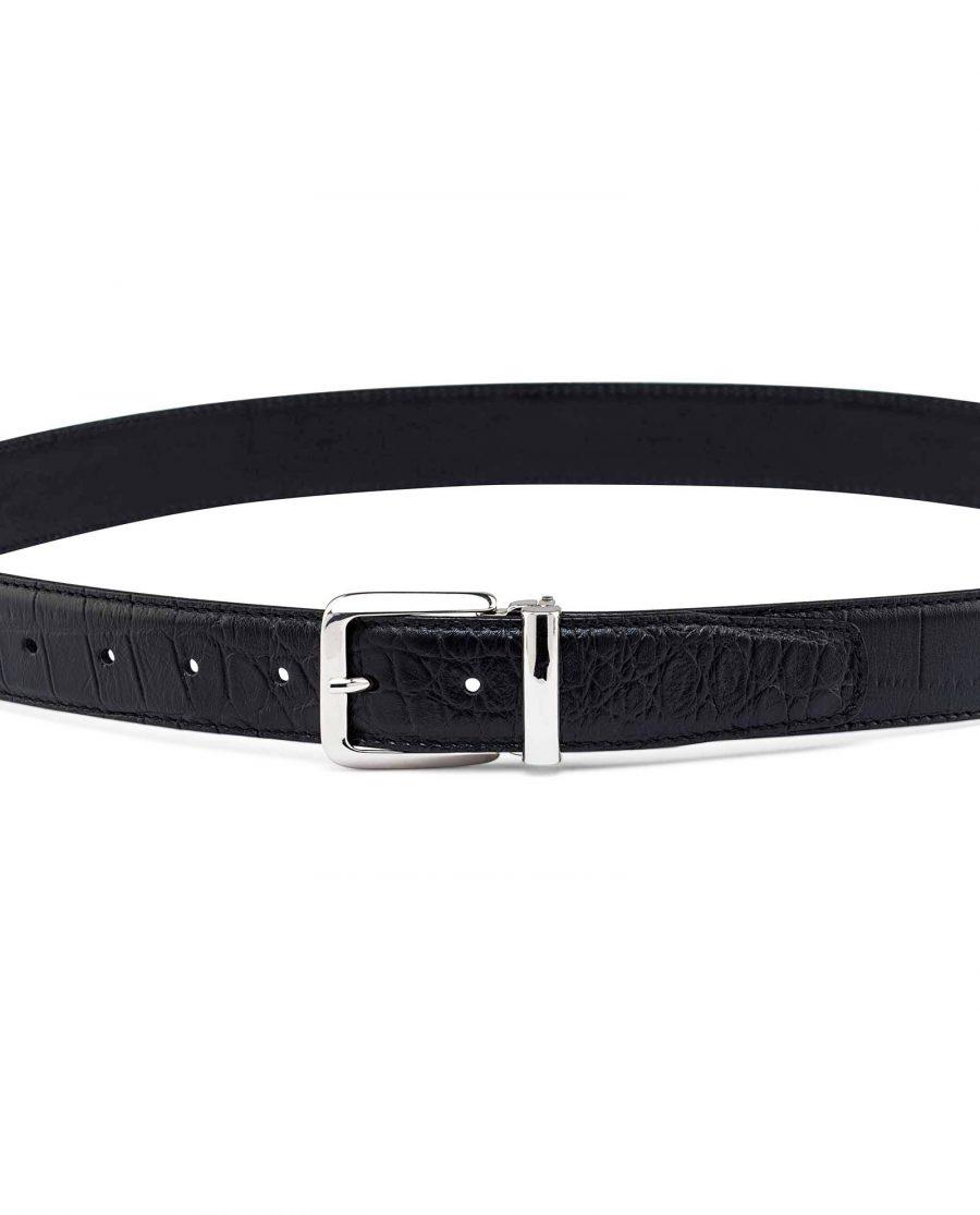 Black-Mens-Croco-Embossed-Belt-On-pants