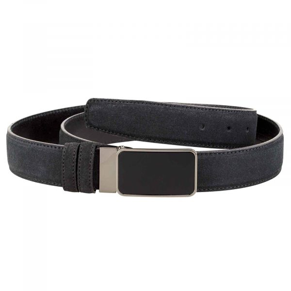 Black-Mens-Suede-Belt-Main-picture