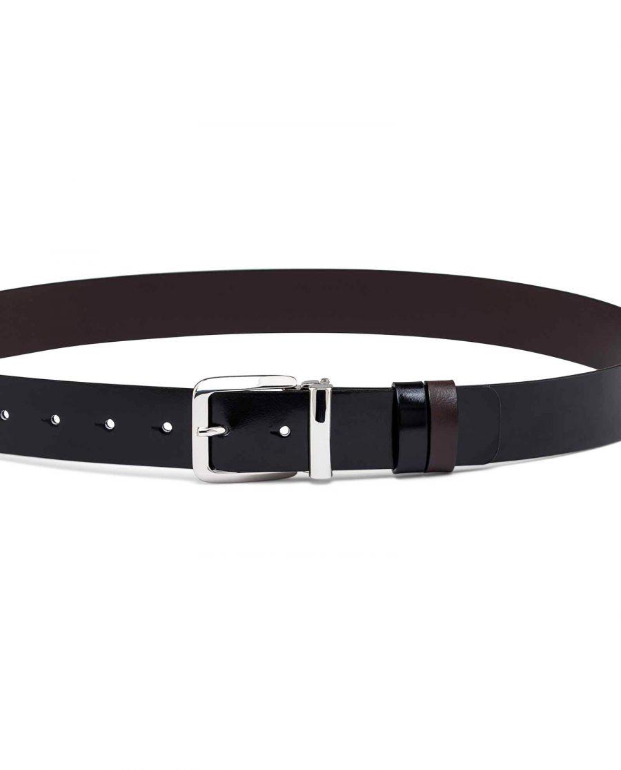 Black-Patent-Leather-Belt-Reversible-On-dress-pants