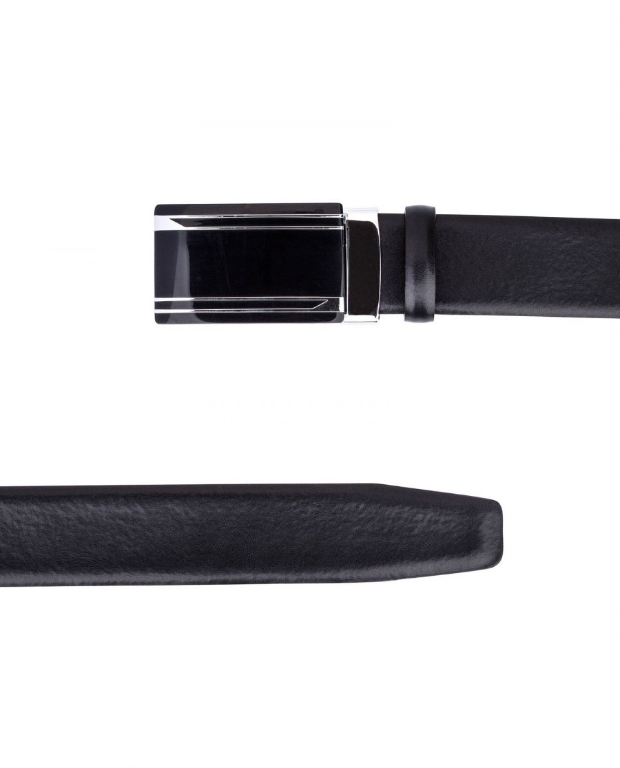 Black-Red-Slide-Belt-by-Capo-Pelle-From-top