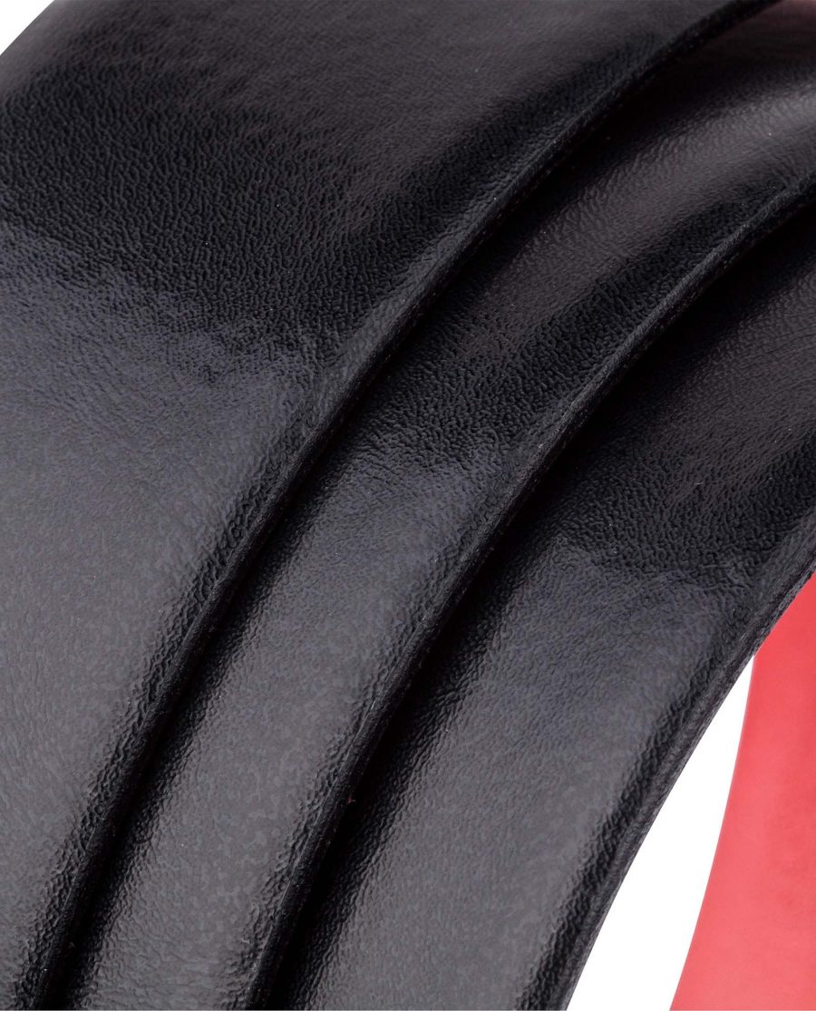 Black-Red-Slide-Belt-by-Capo-PelleRolled-strap