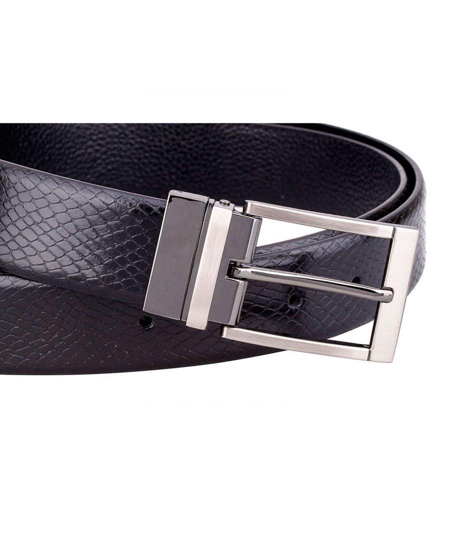 Black-Reversible-Snake-Belt-Buckle-picture