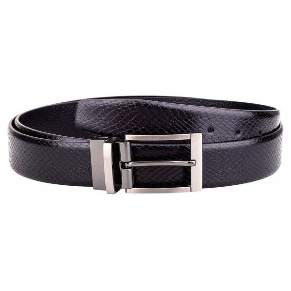 Black-Reversible-Snake-Belt-Main-image