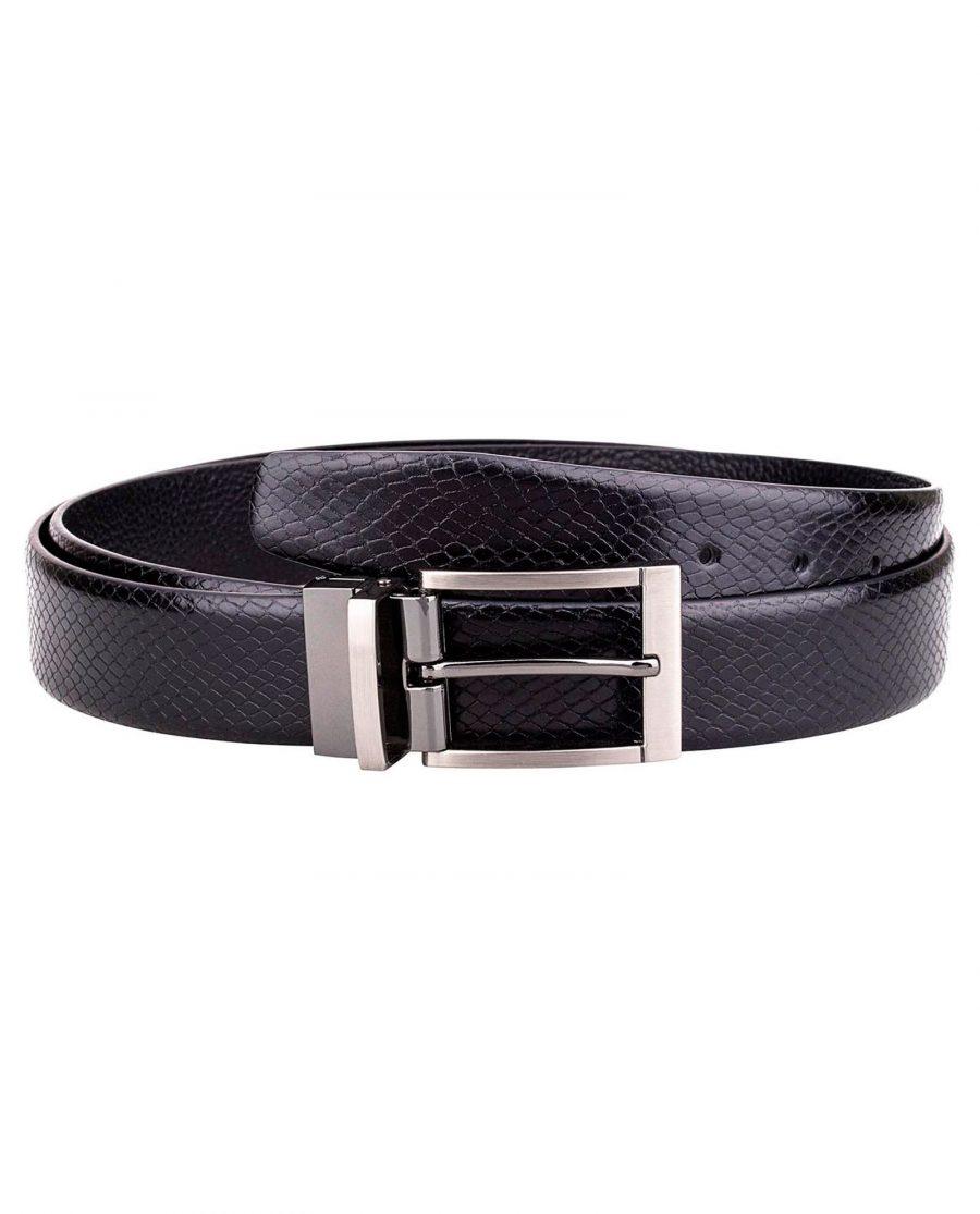 Black-Reversible-Snake-Belt-Main-image