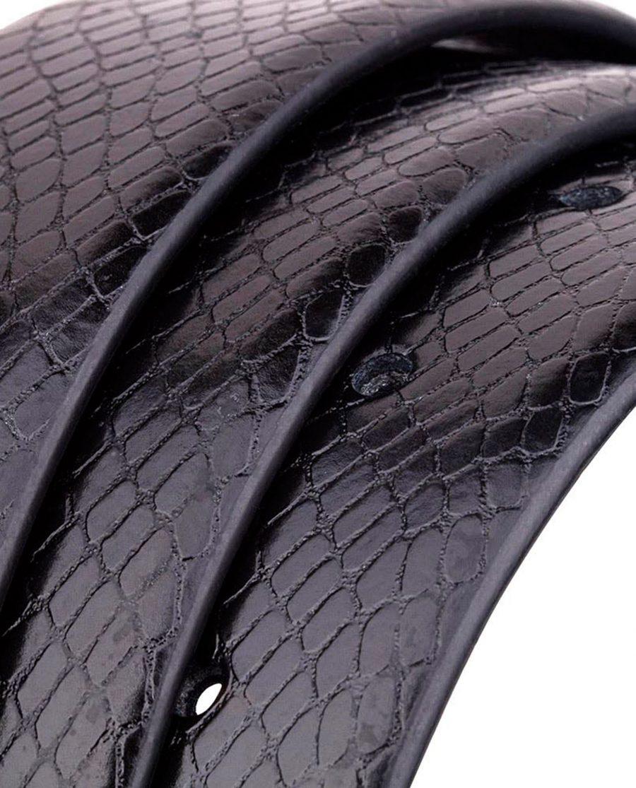 Black-Reversible-Snake-Belt-Rolled-strap