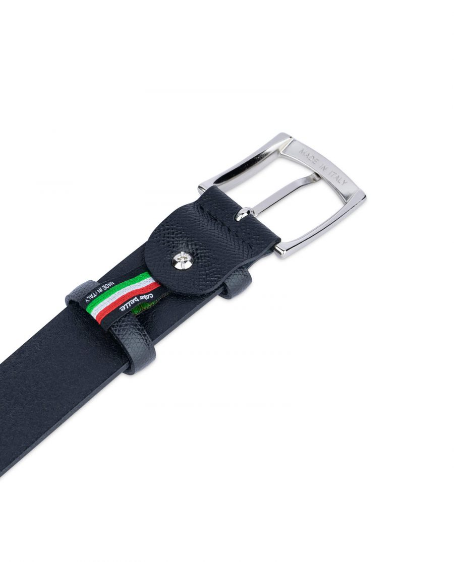 Black Saffiano Classic Leather Belt 4