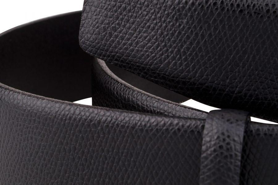 Black-Saffiano-Leather-Strap-Close-image