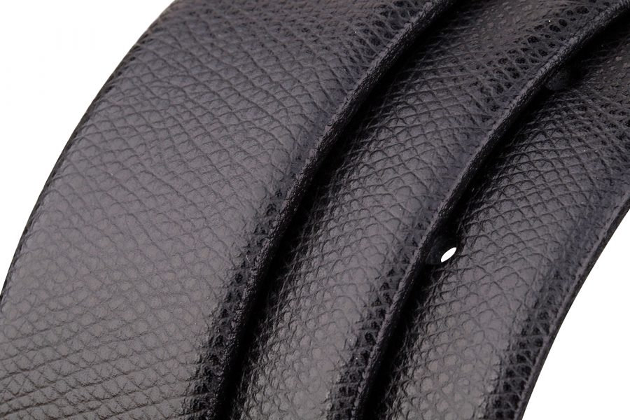 Black-Saffiano-Leather-Strap-Rolled