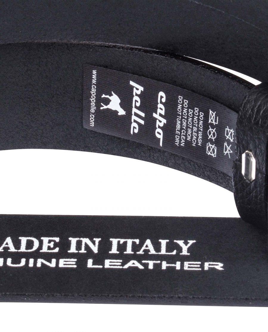 Black-Slide-Belt-in-Cowhide-Care-tags