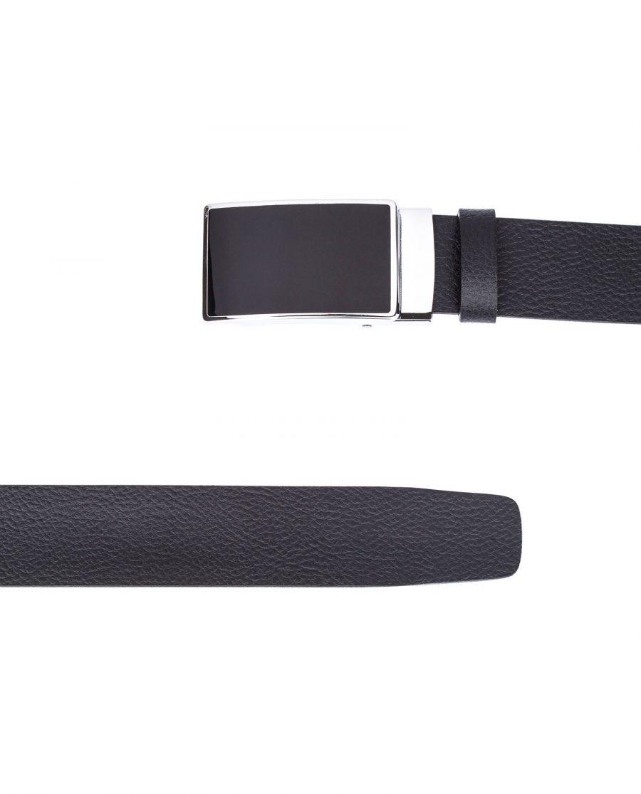 Black-Slide-Belt-in-Cowhide-From-top