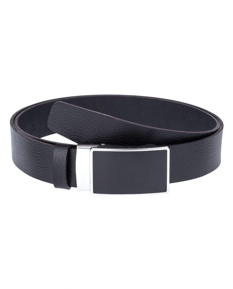 Black-Slide-Belt-in-Cowhide-Front-image