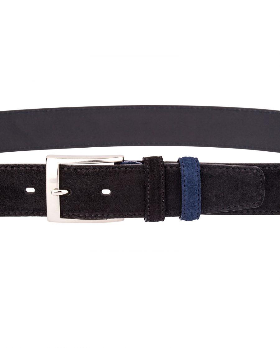 Black-Suede-Belt-Blue-On-trousers