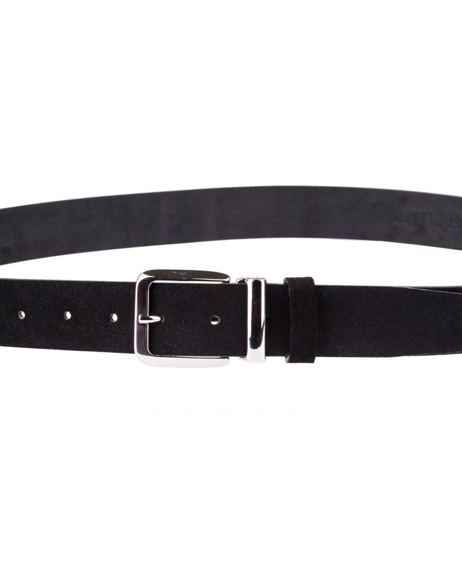 Black-Suede-Belt-Classic-Buckle
