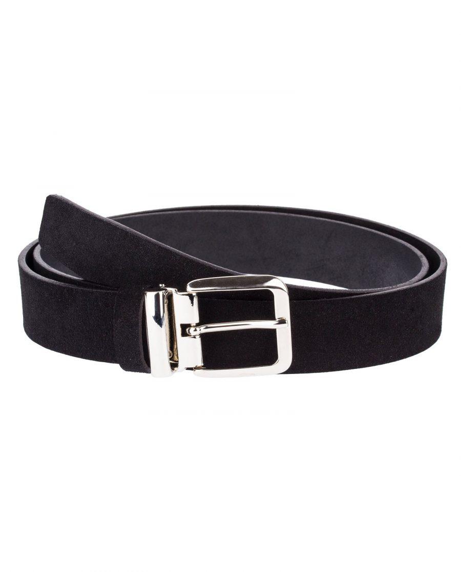 Black-Suede-Belt-Classic-Front
