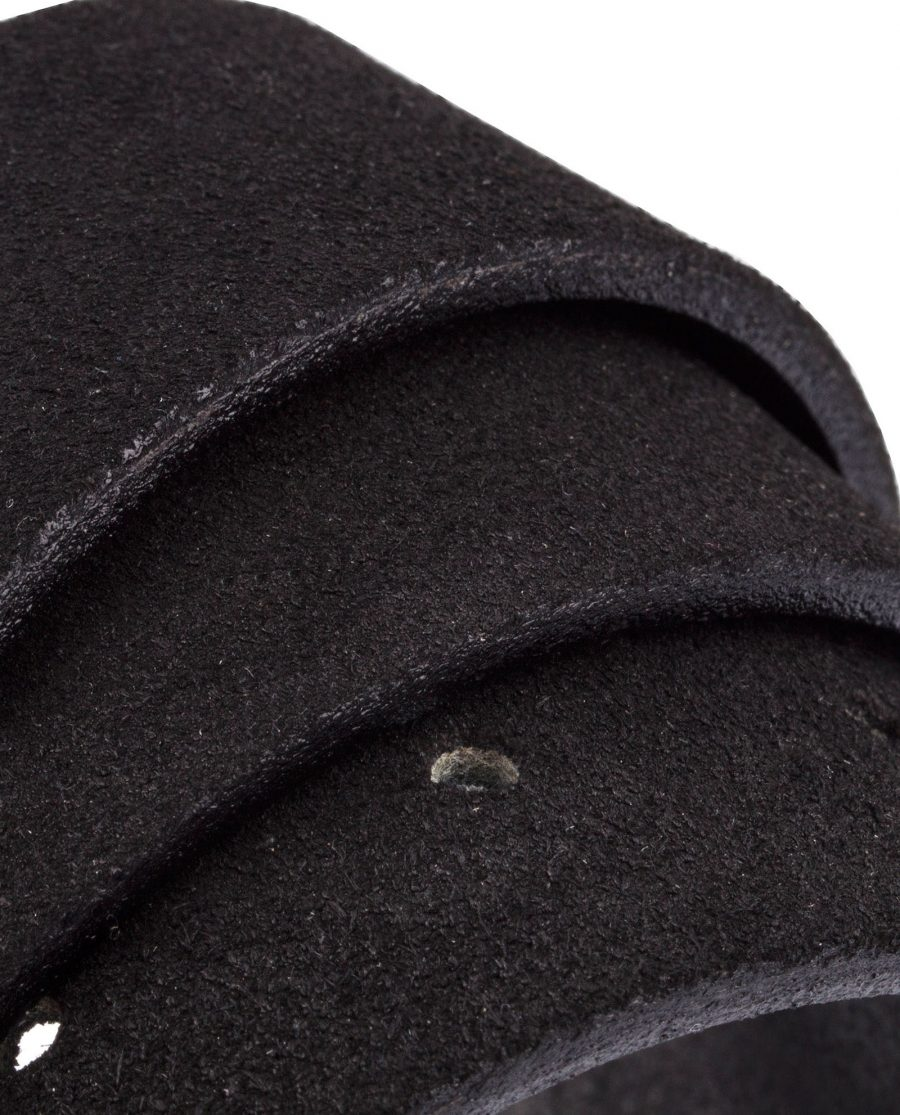 Black-Suede-Belt-Classic-Rolled