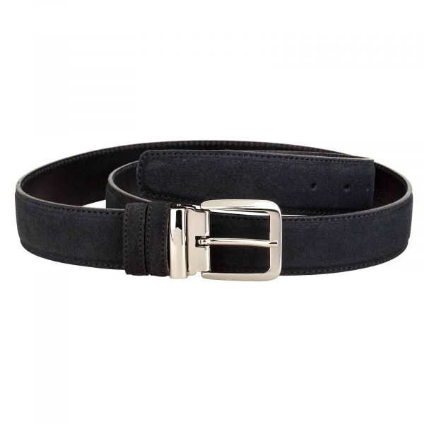 Black-Suede-Belt-Italian-Buckle-Main-picture