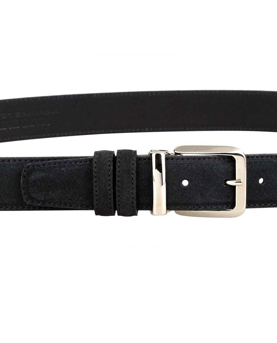 Black-Suede-Belt-Italian-Buckle-On-pants