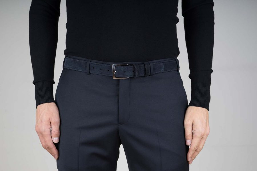 Black-Suede-Belt-Mens-35-mm-Live-on-Pants