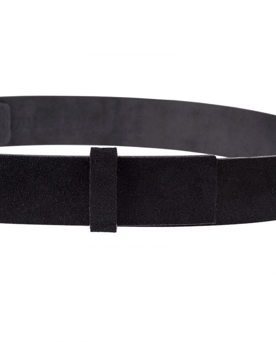 Black-Suede-Belt-Strap-Classic-Buckle
