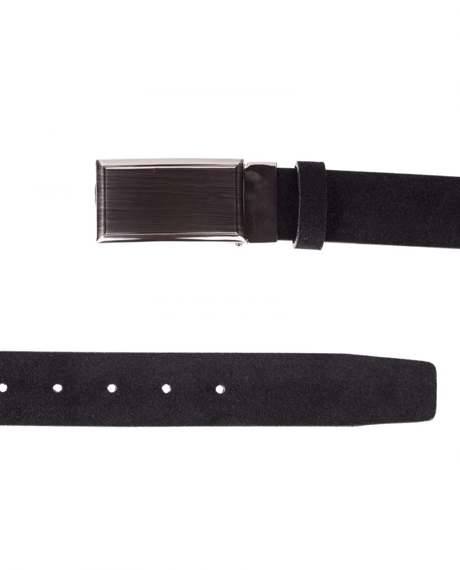 Black-Suede-Belt-With-Buckle-Both-Ends