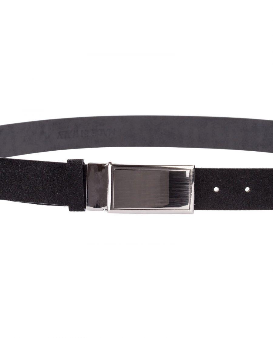 Black-Suede-Belt-With-Buckle-Buckle