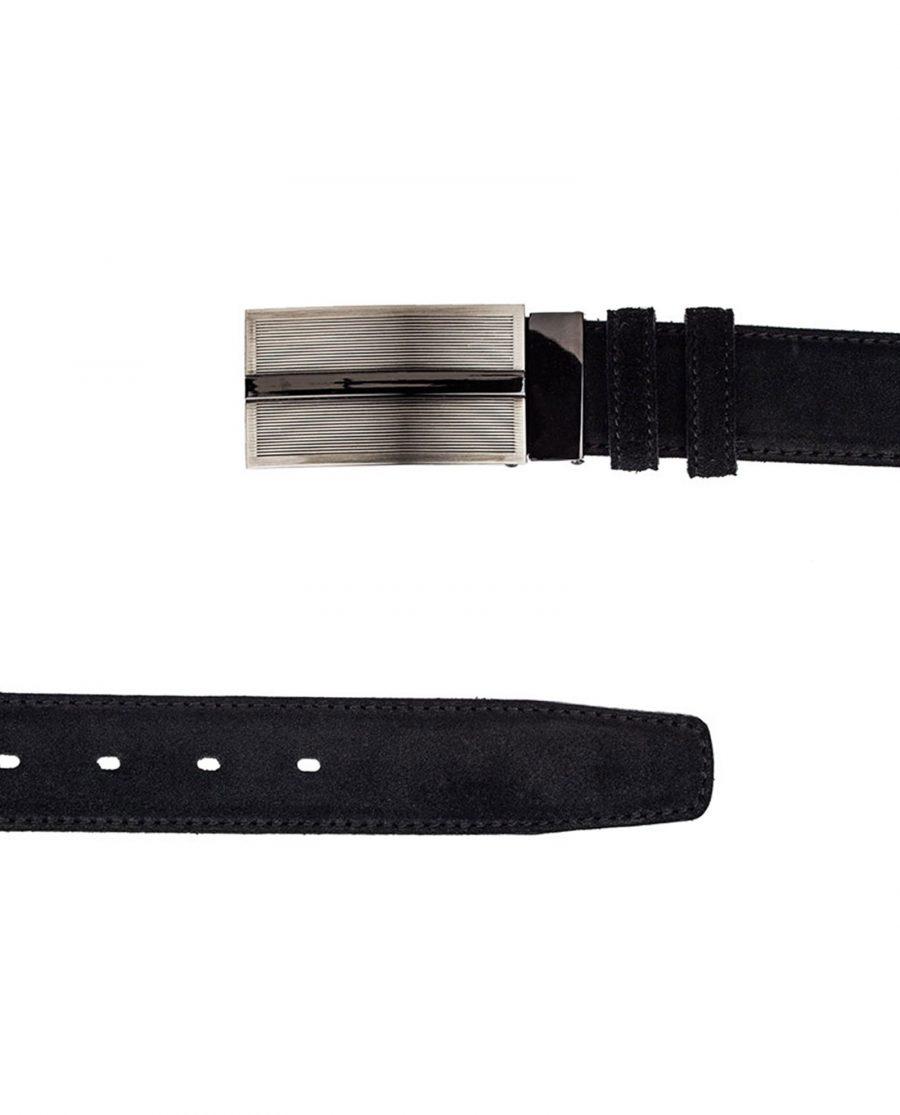 Black-Suede-Three-Buckles-Belt-Set-Both-Sides