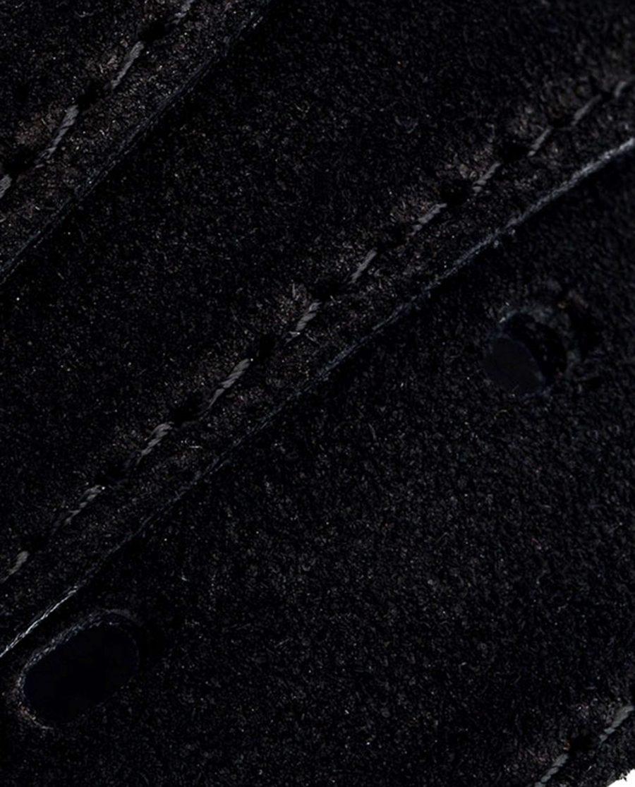Black-Suede-Three-Buckles-Belt-Set-Rolled