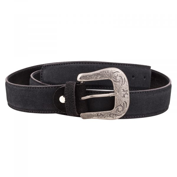 Black-Suede-Western-Belt-First-picture