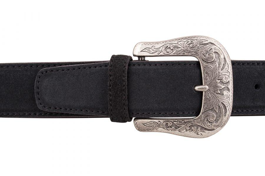 Black-Suede-Western-Belt-On-trousers