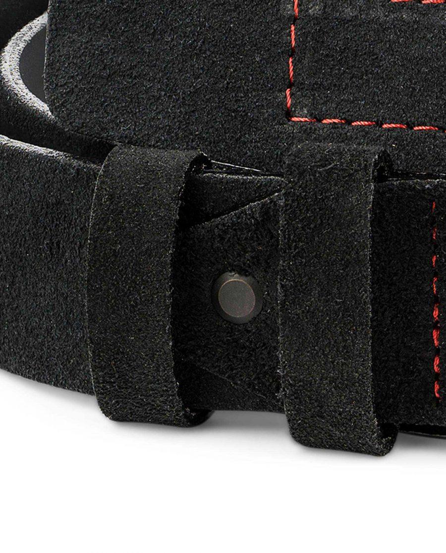 Black-Suede-Wide-Belt-40-mm-Mens-Leather-Belts-by-Capo-Pelle-Belt-loops