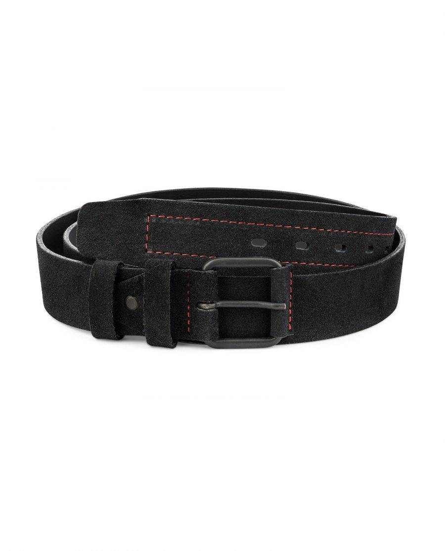 Black-Suede-Wide-Belt-40-mm-Mens-Leather-Belts-by-Capo-Pelle-First-picture