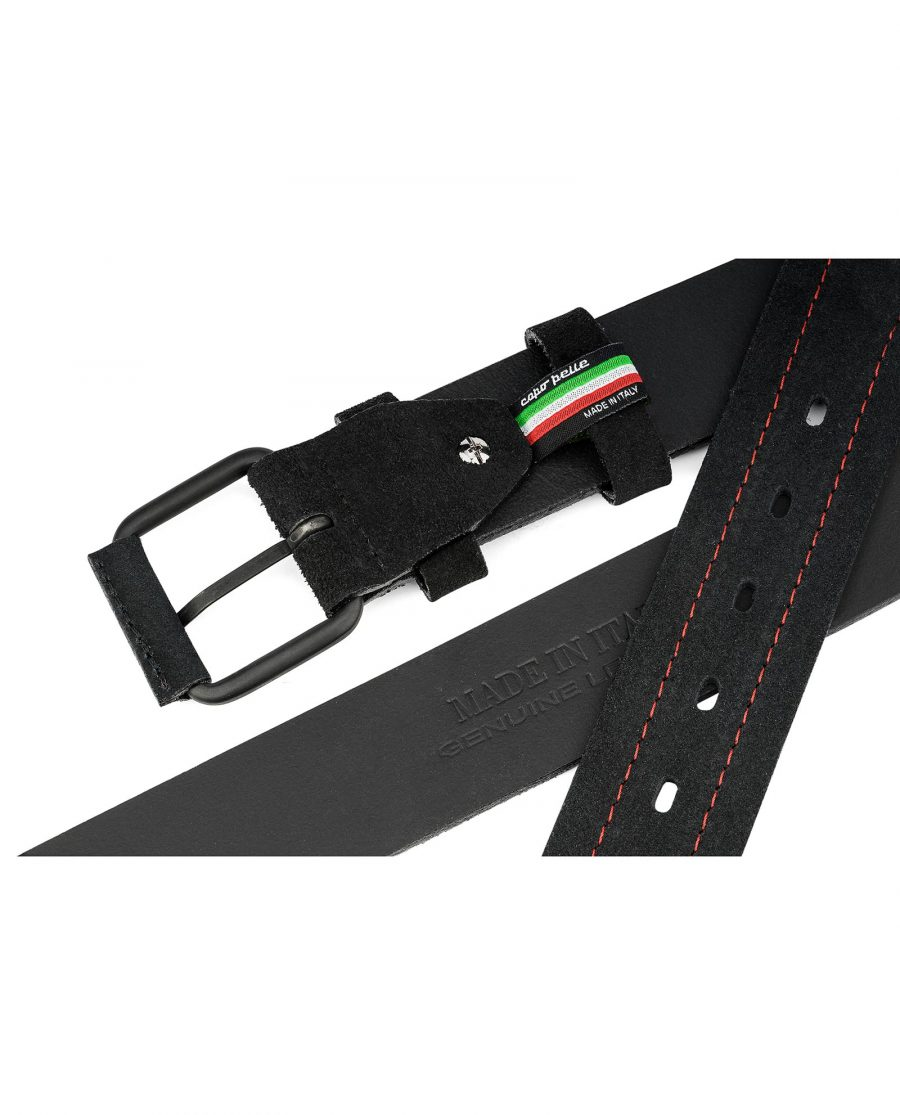 Black-Suede-Wide-Belt-40-mm-Mens-Leather-Belts-by-Capo-Pelle-Made-in-Italy